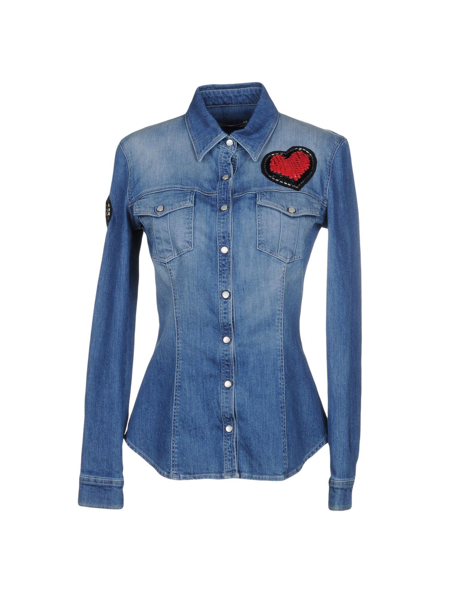.AMEN. Джинсовая рубашка amen джинсовая верхняя одежда