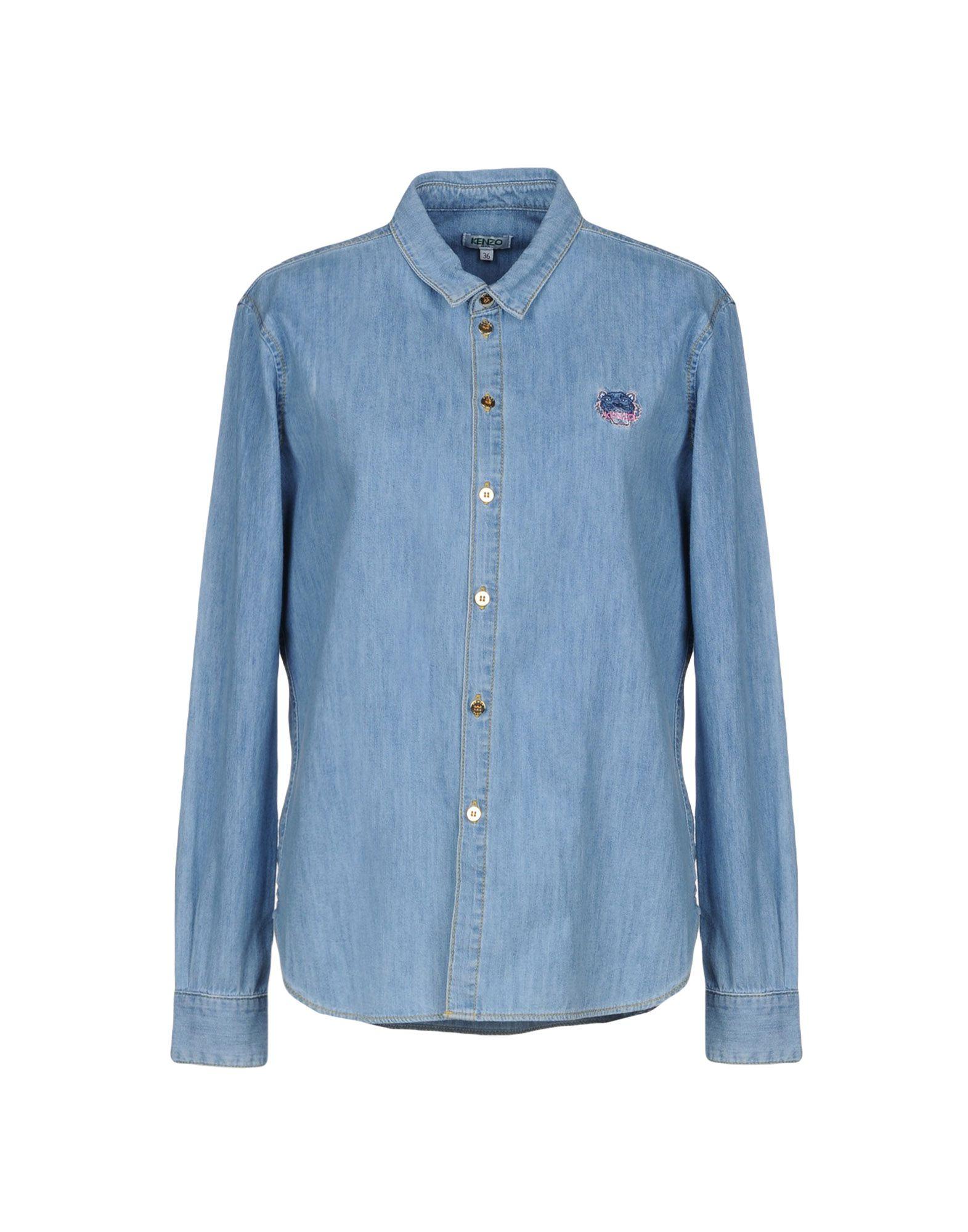 KENZO Джинсовая рубашка kenzo джинсовая юбка