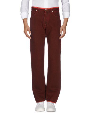 Купить Джинсовые брюки красного цвета