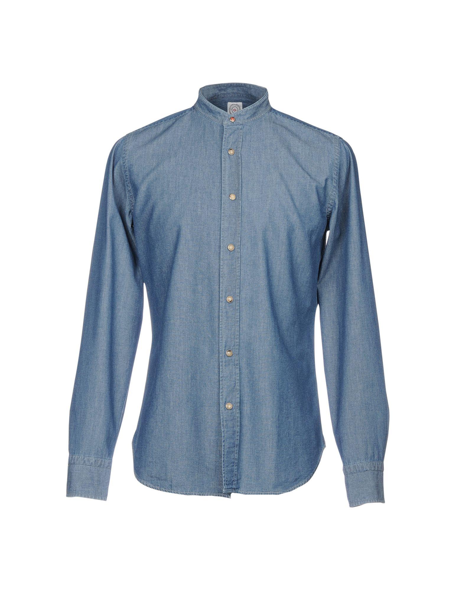 BOLZONELLA 1934 Denim Shirts in Blue