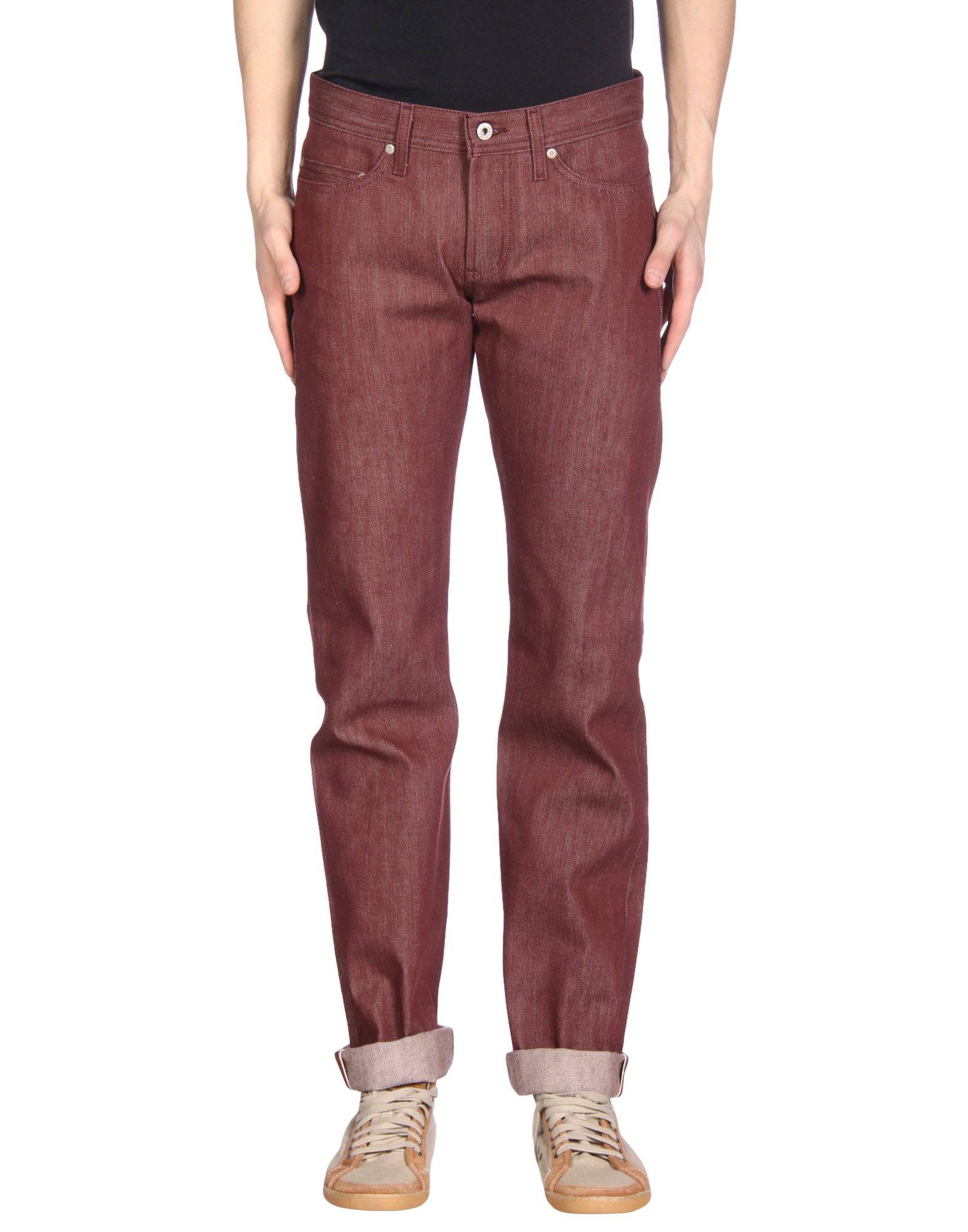 NAKED & FAMOUS Denim Pants in Maroon