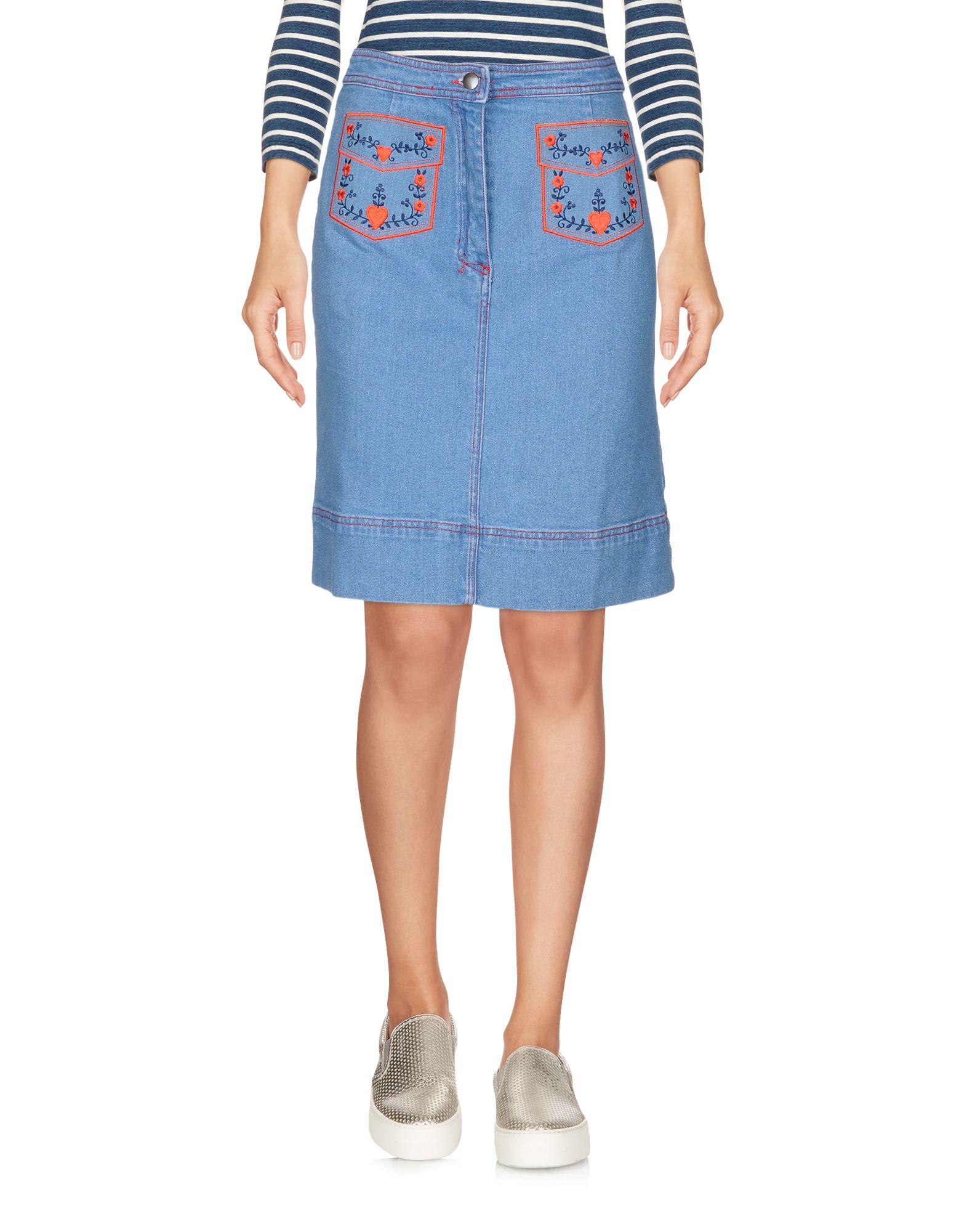 MANOUSH Джинсовая юбка vinemo vorneoco корейская версия высокой талии слот пакет юбка джинсовая юбка юбка юбка r1540 серый xl