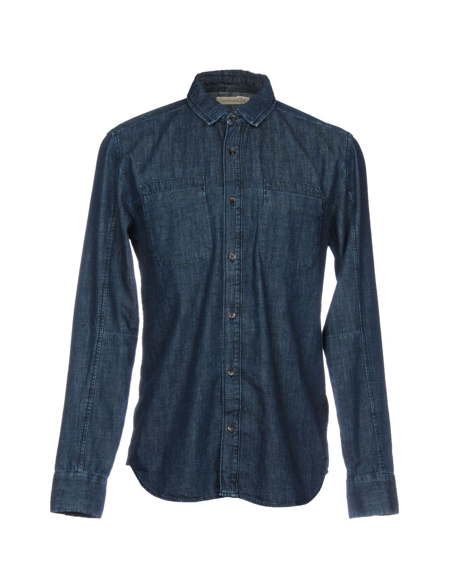 CALVIN KLEIN JEANS Джинсовая рубашка hengfang 52135 princess style water resistant eyeliner gel w brush black