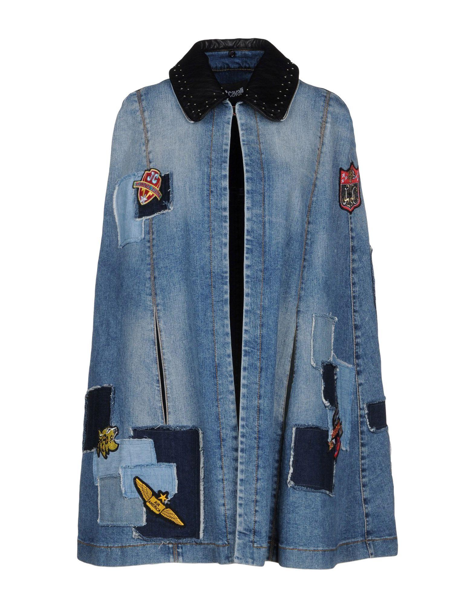 JUST CAVALLI Джинсовая верхняя одежда wood wood джинсовая верхняя одежда