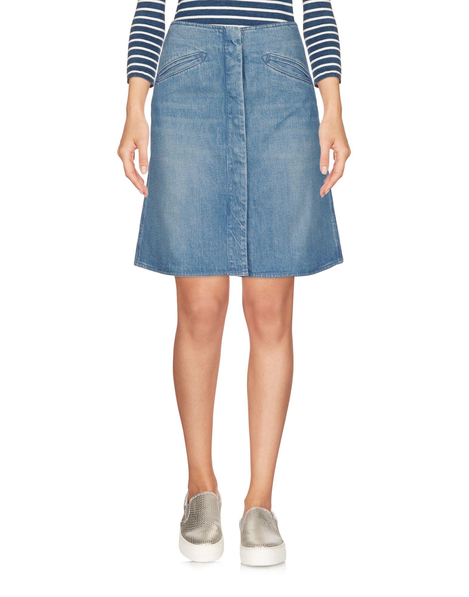 《送料無料》M.I.H JEANS レディース デニムスカート ブルー XS コットン 100%