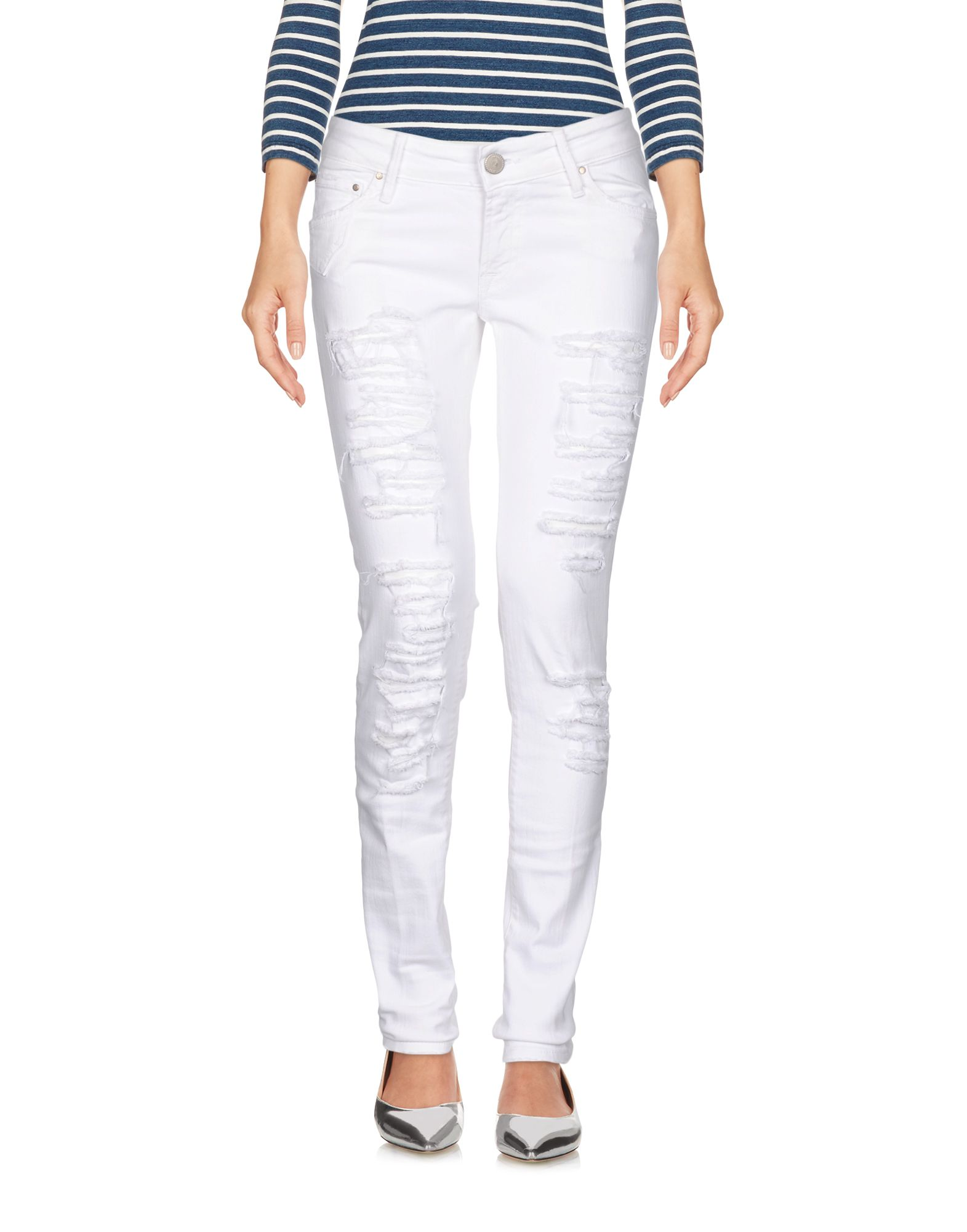 DONT CRY Denim Pants in White