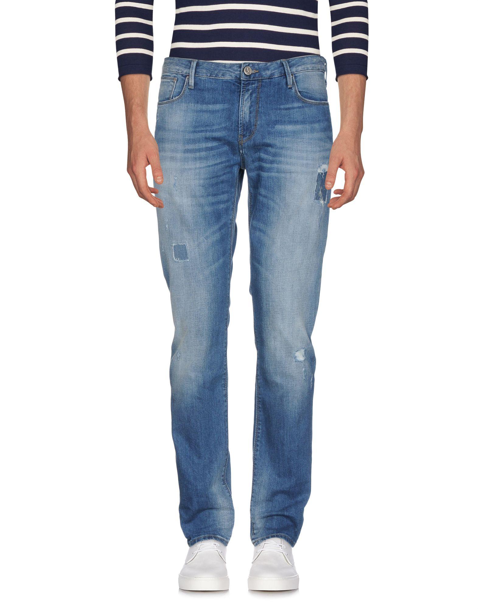 《送料無料》ARMANI JEANS メンズ ジーンズ ブルー 38W-30L コットン 98% / ポリウレタン 2%