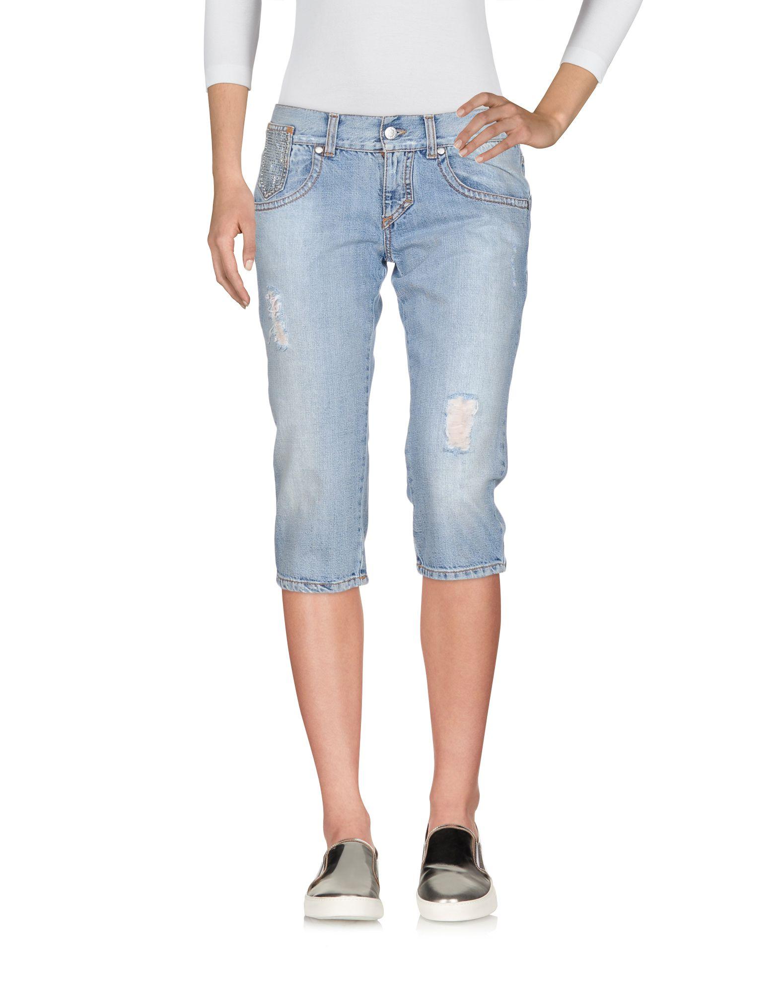 BLUGIRL JEANS Джинсовые брюки-капри цена 2017