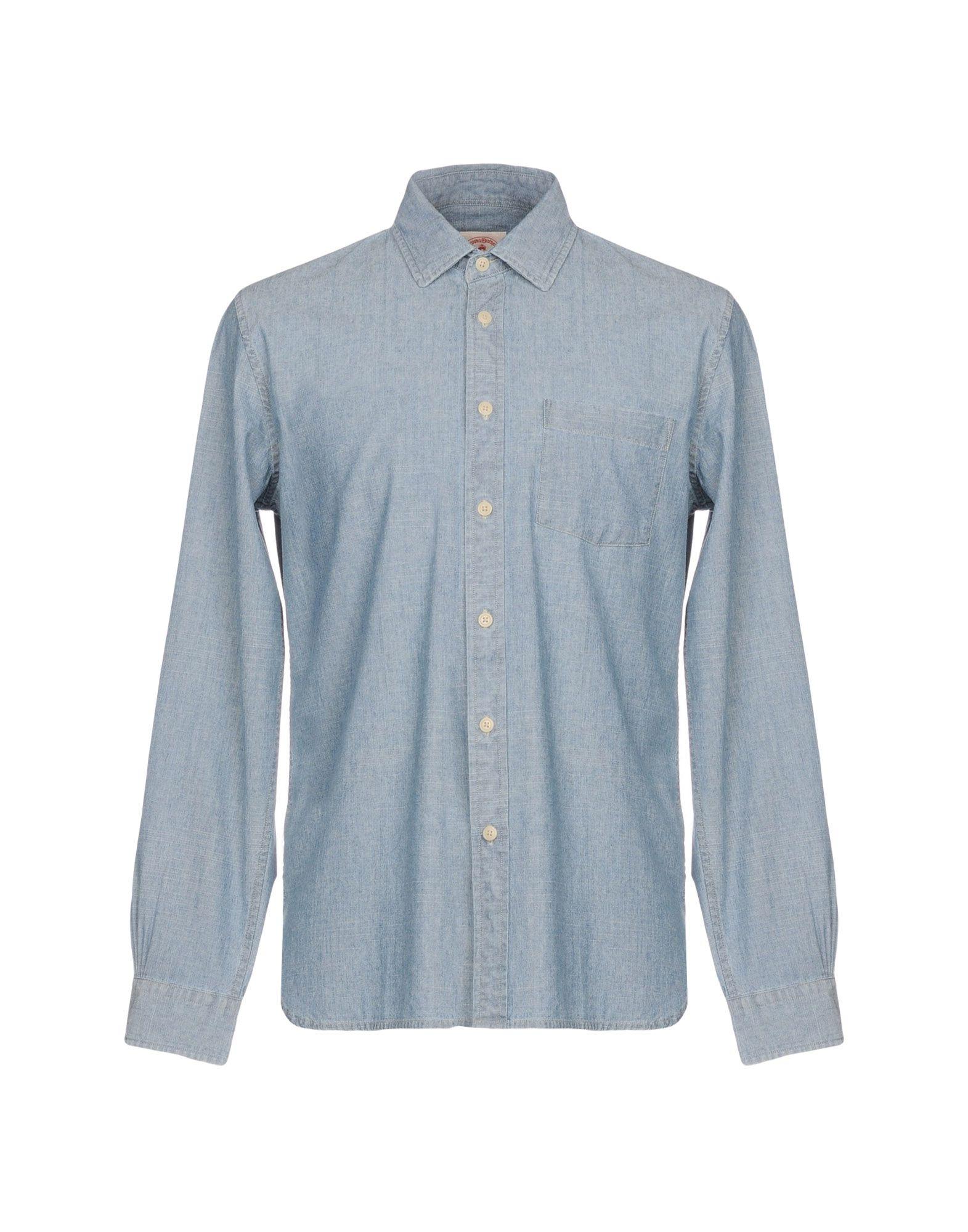 BROOKS BROTHERS Джинсовая рубашка рубашка мужская brooks brothers 205q