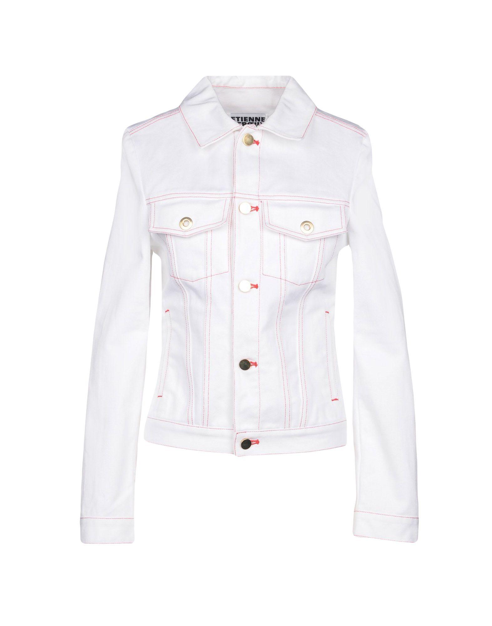 цена на ETIENNE DEROEUX Джинсовая верхняя одежда