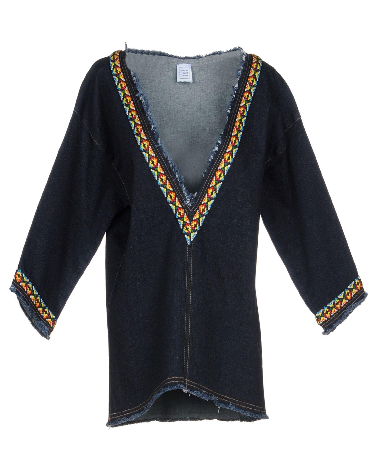 купить VENTI CENTO VENTUNO Джинсовая рубашка по цене 7800 рублей