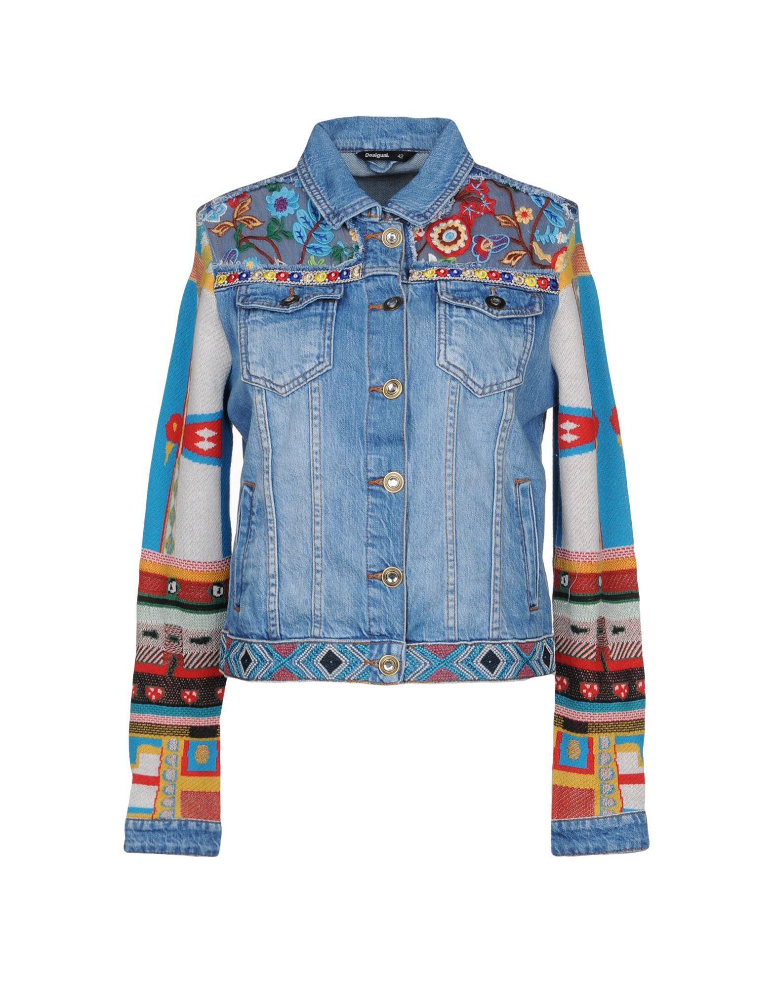 DESIGUAL Джинсовая верхняя одежда wood wood джинсовая верхняя одежда
