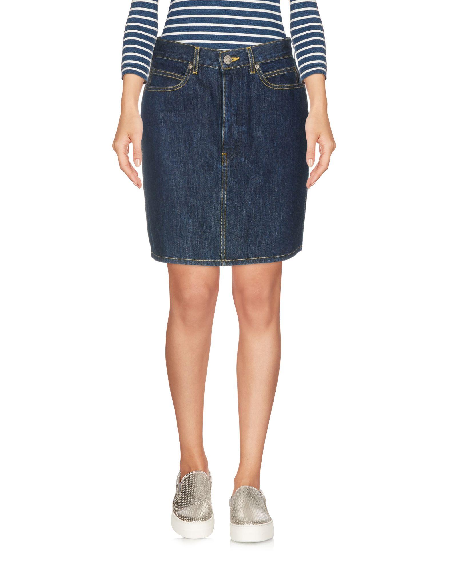 CALVIN KLEIN JEANS Denim Skirts in 102 Blue