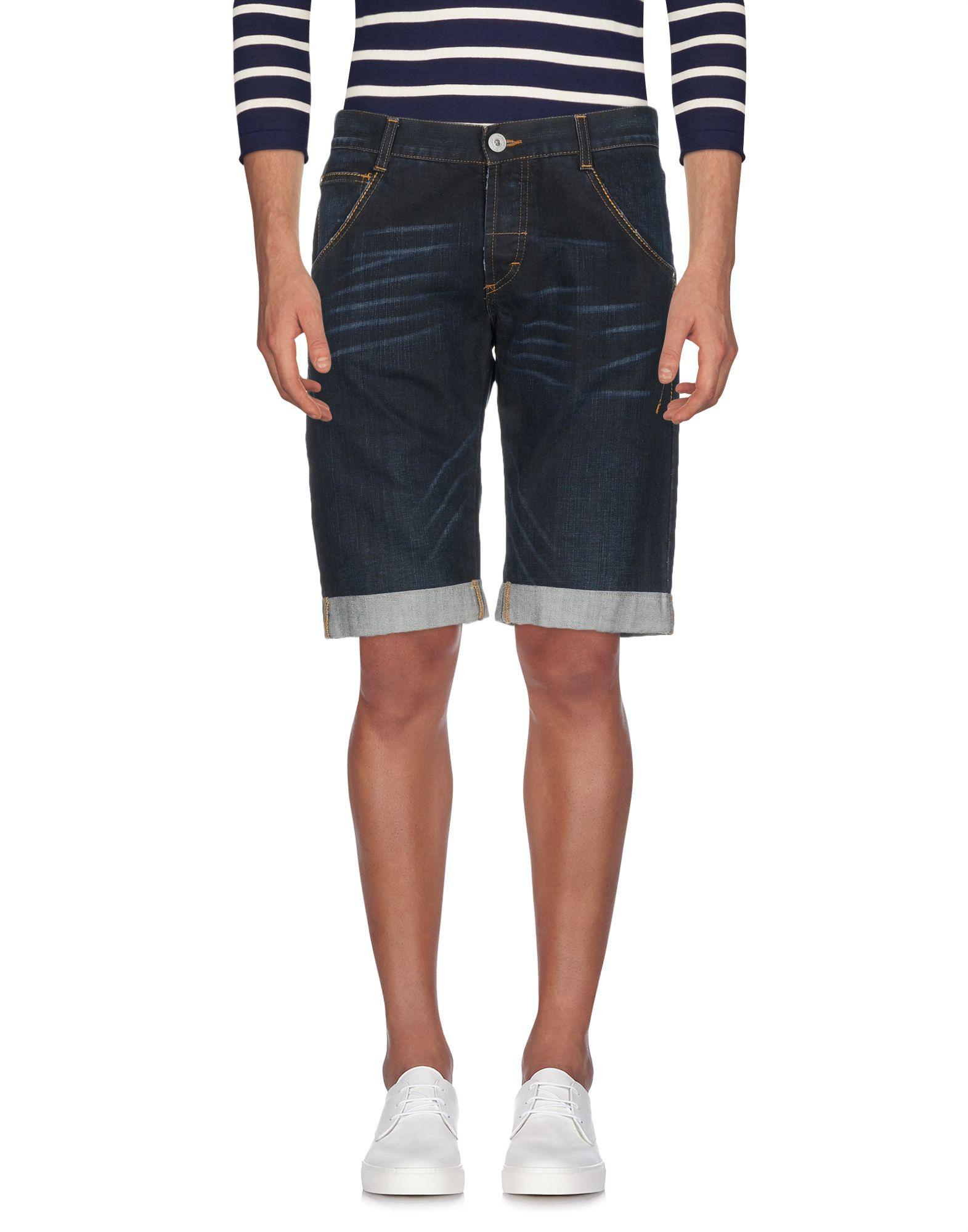 《期間限定セール中》GF FERRE' メンズ デニムバミューダパンツ ブルー 25 コットン 100%