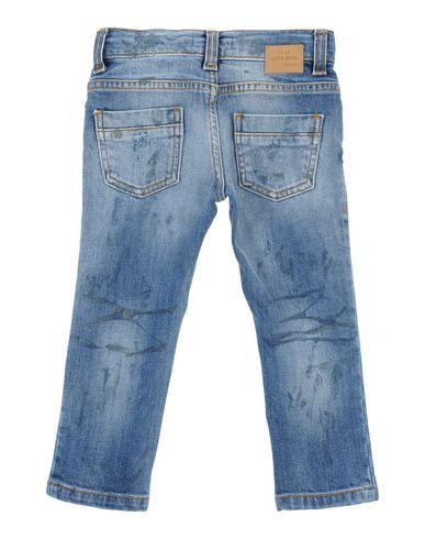 Фото 2 - Джинсовые брюки от ENTRE AMIS GARÇON синего цвета