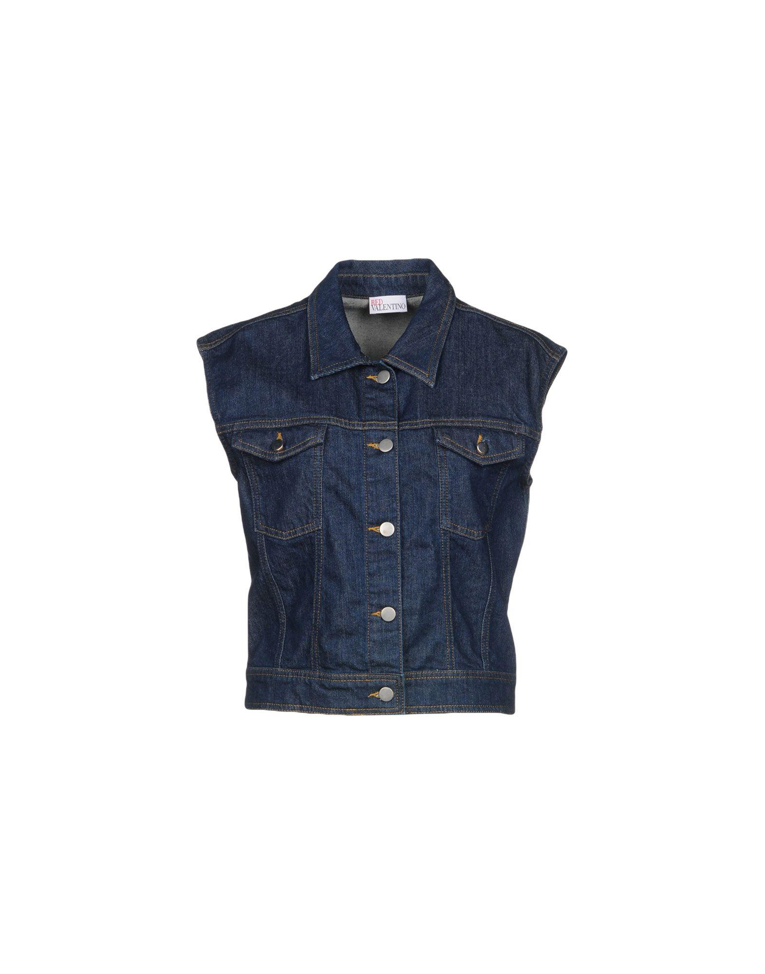 REDValentino Джинсовая верхняя одежда wood wood джинсовая верхняя одежда