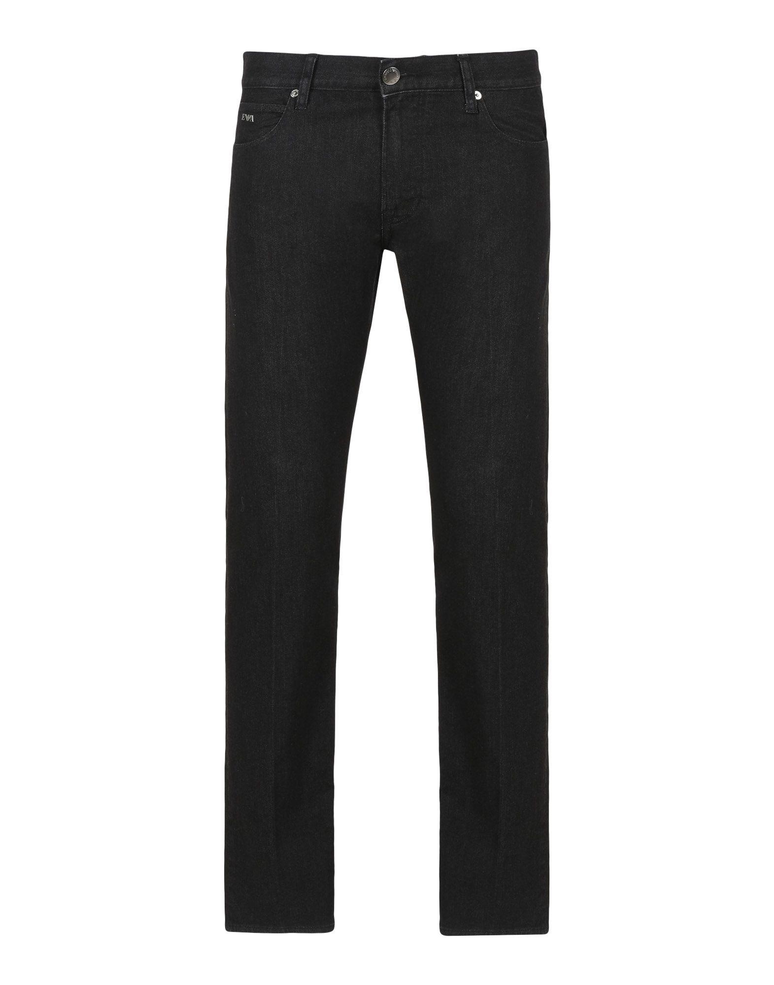 《セール開催中》EMPORIO ARMANI メンズ ジーンズ ブラック 29 コットン 99% / ポリウレタン 1%