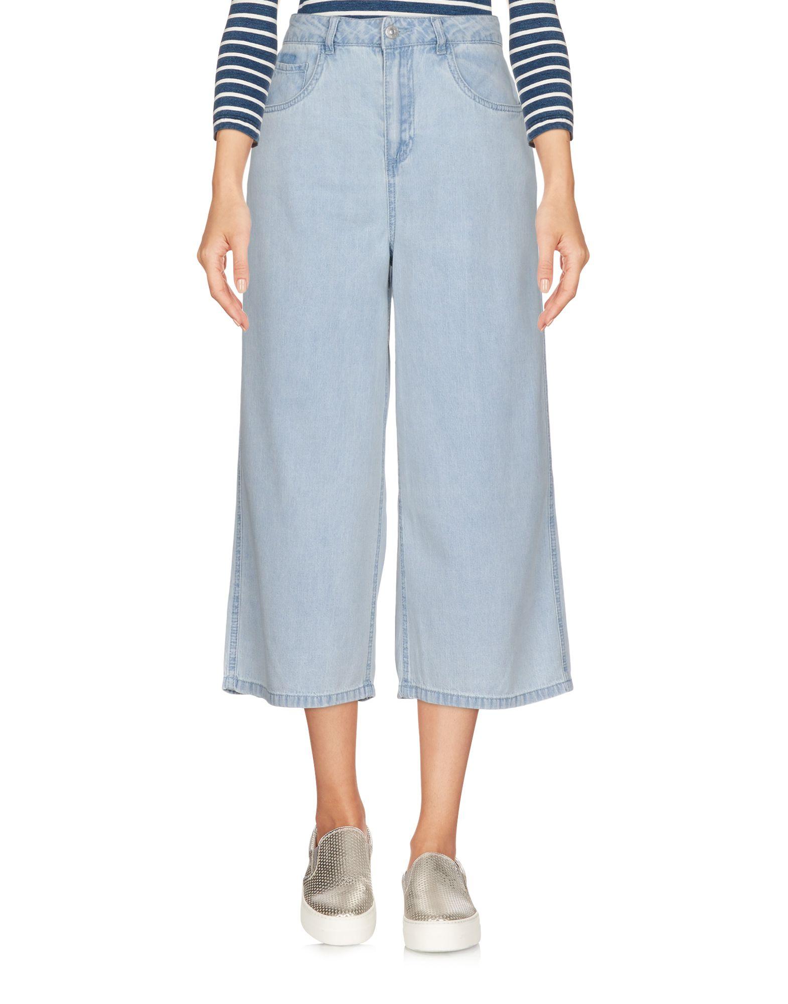 VERO MODA Джинсовые брюки-капри женские брюки лэйт светлый размер 50