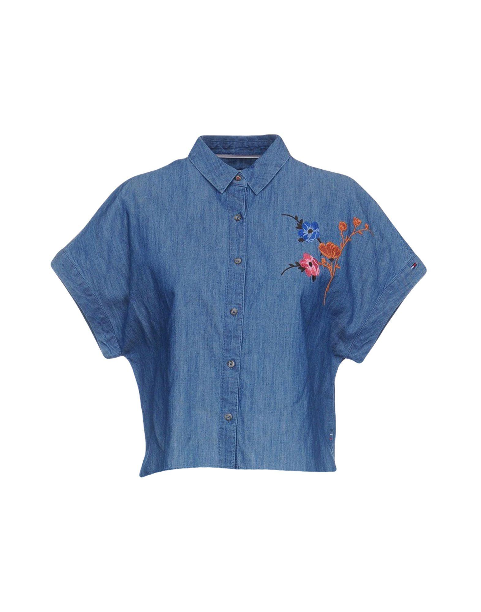 TOMMY HILFIGER DENIM Джинсовая рубашка футболка tommy hilfiger denim tommy hilfiger denim to013ewtpb98