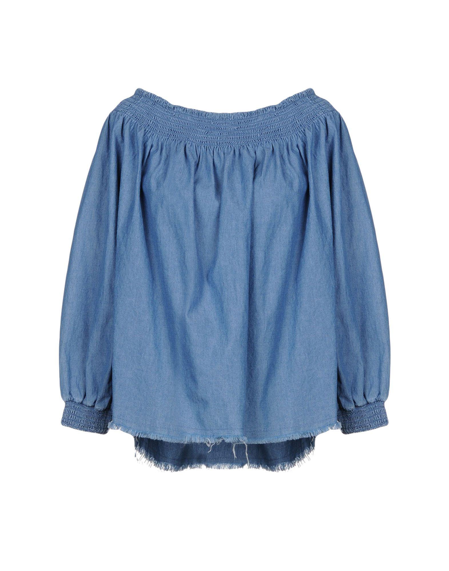 《送料無料》ONE x ONETEASPOON レディース デニムシャツ ブルー XS コットン 100%