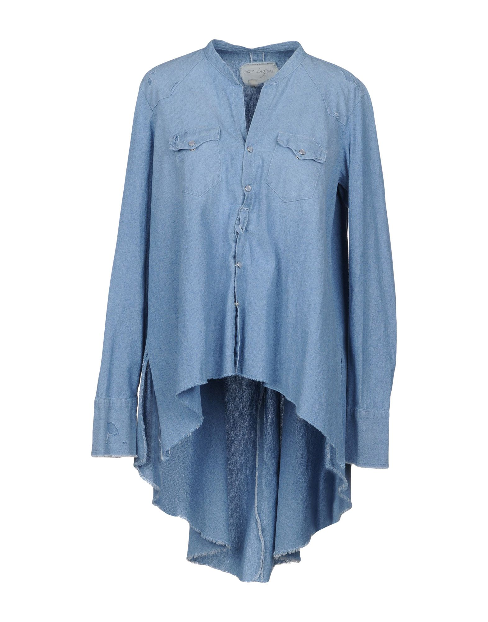 GREG LAUREN Джинсовая рубашка брюки greg horman greg horman gr020emxgz64
