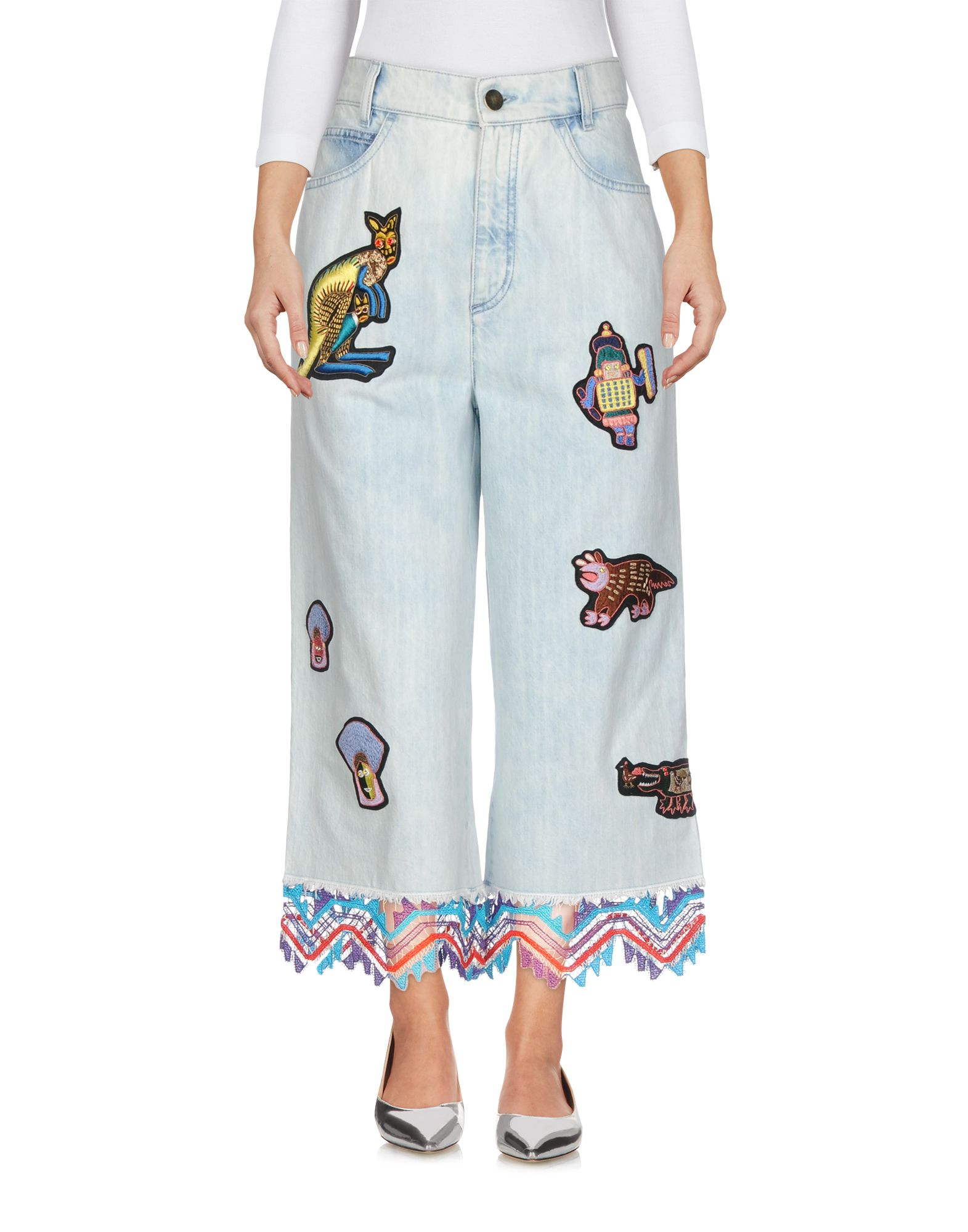 embroidered patch cropped jeans - Blue Peter Pilotto YPrbV9