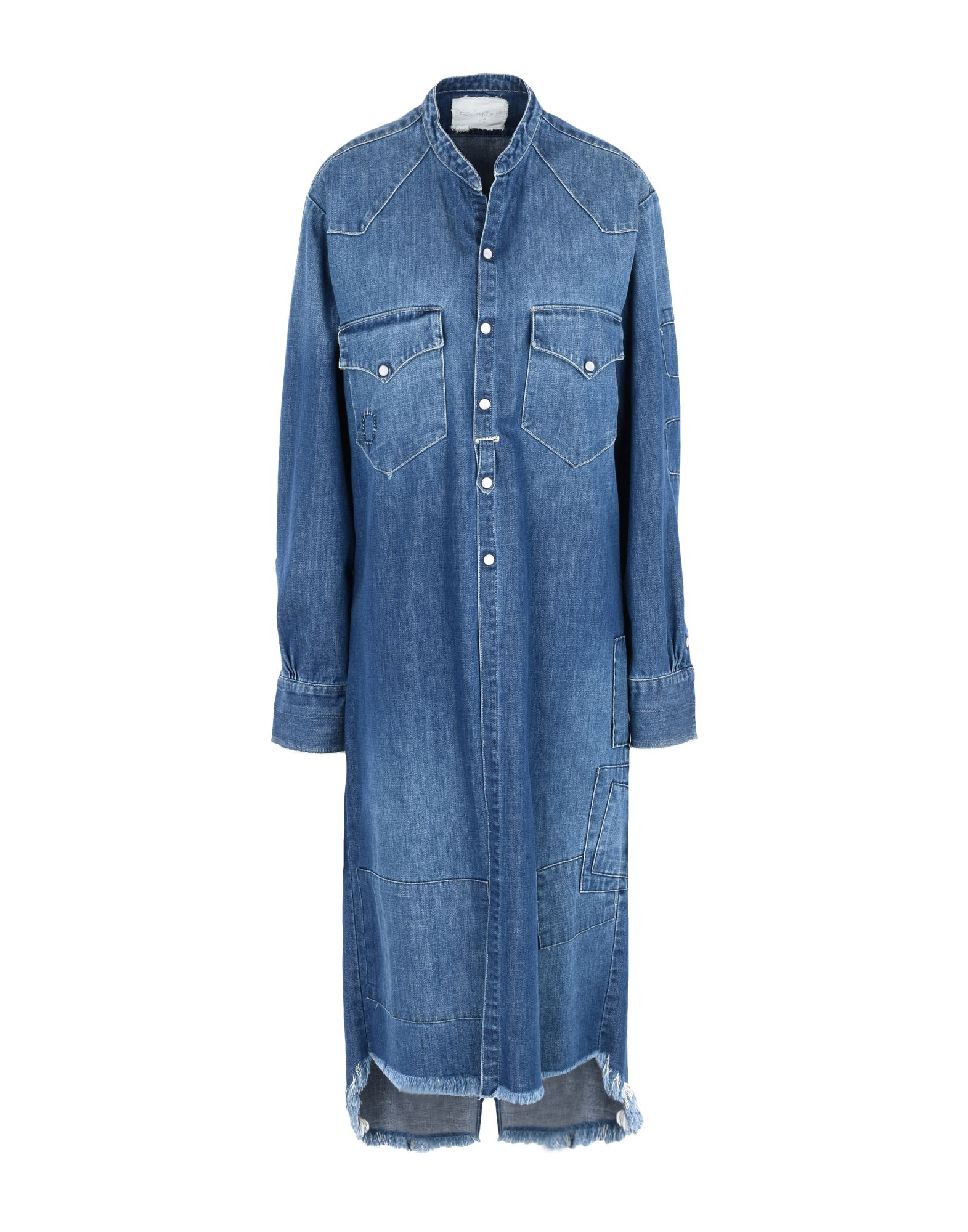 GREG LAUREN Джинсовая верхняя одежда брюки greg horman greg horman gr020emxgz64