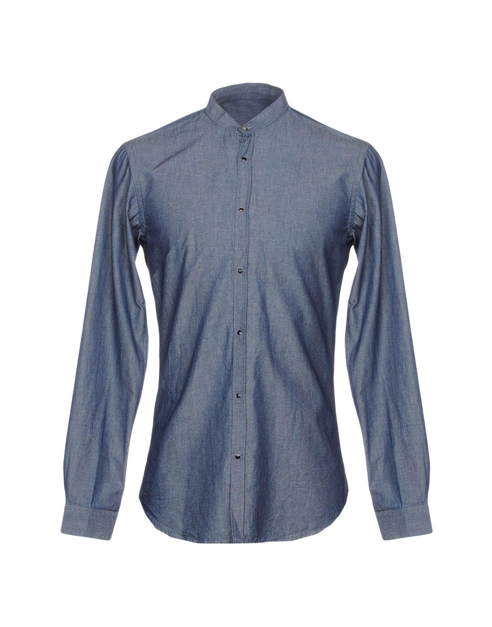 《送料無料》,BEAUCOUP メンズ デニムシャツ ブルー XL 100% コットン