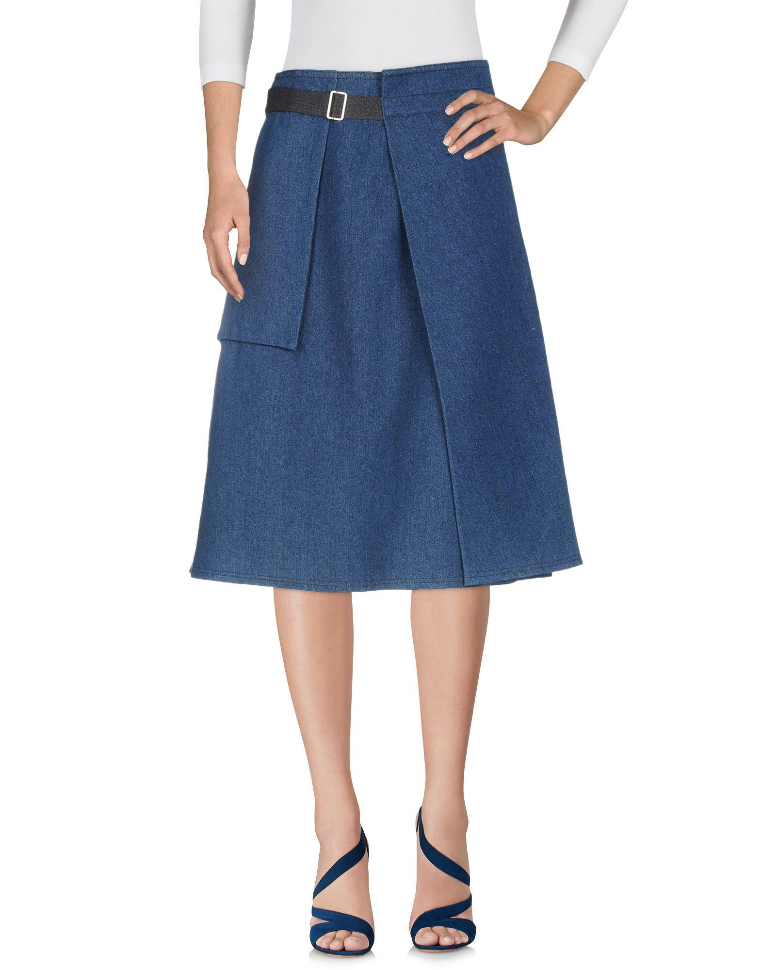 TELA Джинсовая юбка tela длинная юбка