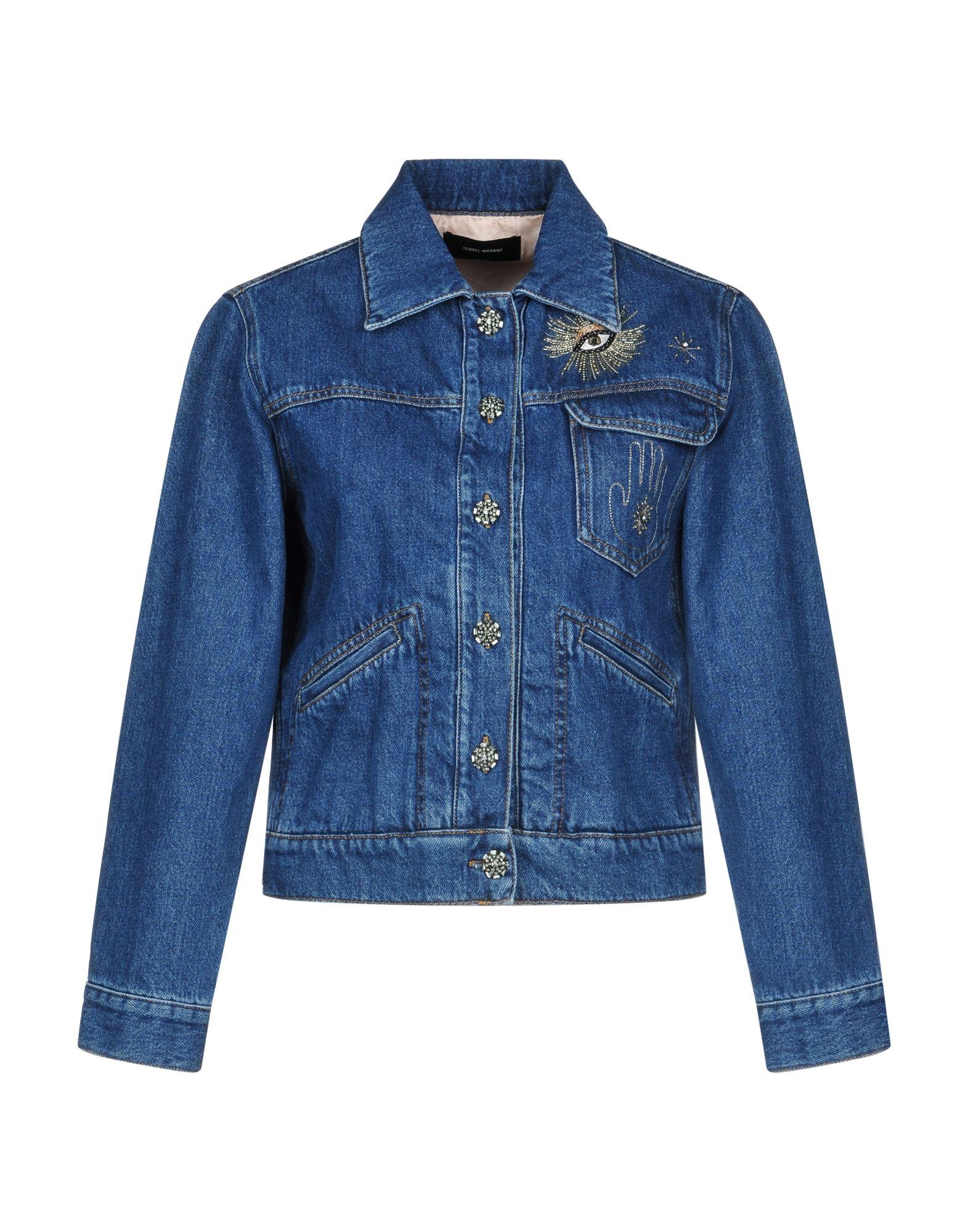 ISABEL MARANT Джинсовая верхняя одежда folk джинсовая верхняя одежда