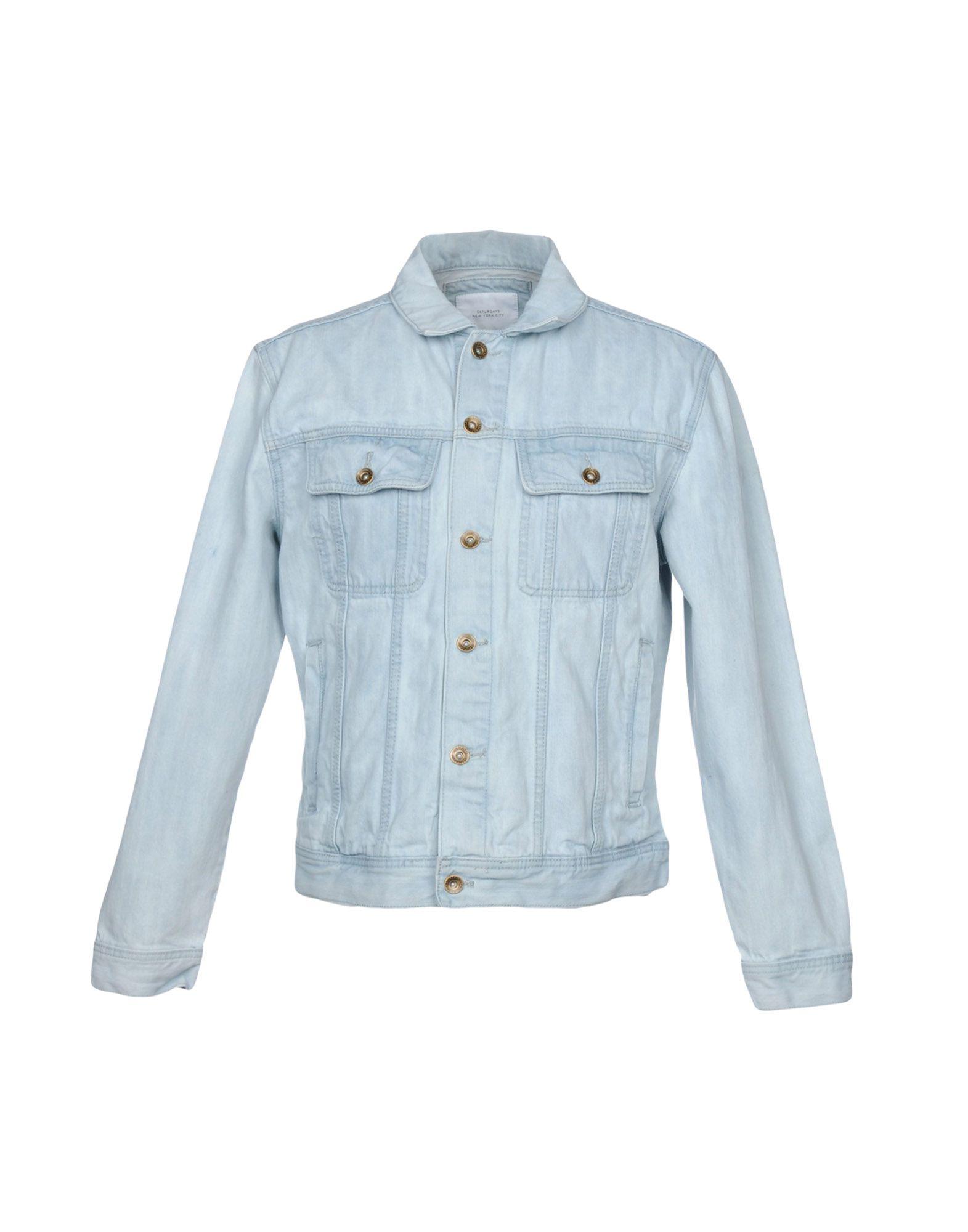 SATURDAYS NEW YORK CITY Джинсовая верхняя одежда saturdays new york city джинсовая рубашка