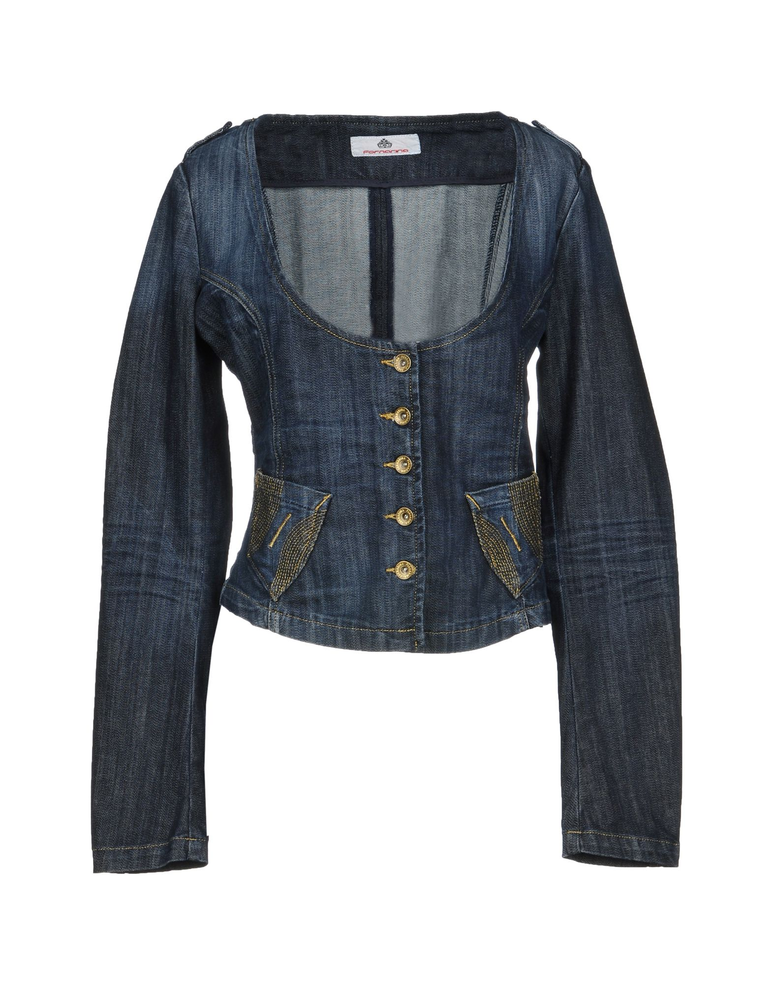 FORNARINA Джинсовая верхняя одежда брендовая одежда