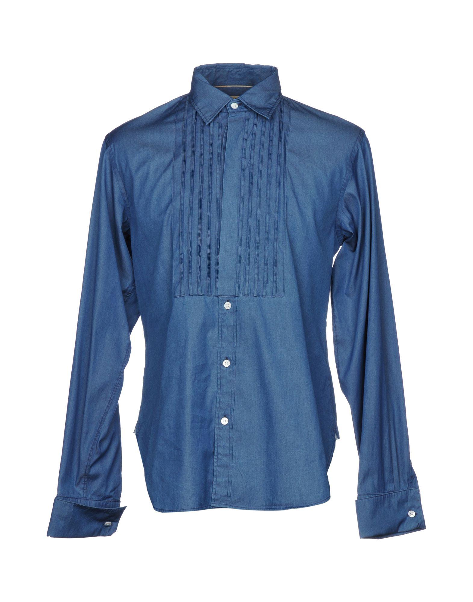 цена BURBERRY Джинсовая рубашка онлайн в 2017 году