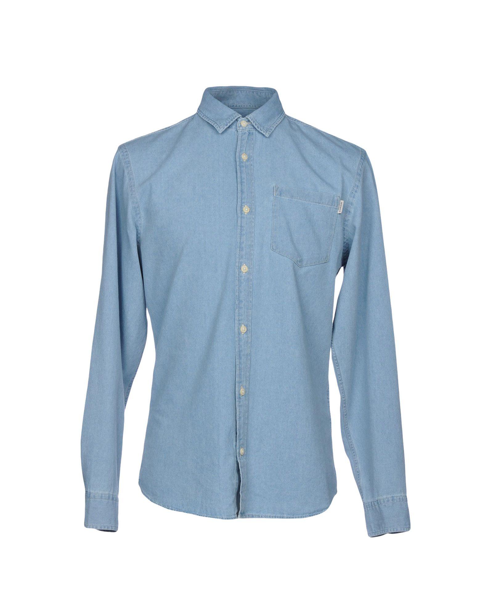 《送料無料》JACK & JONES ORIGINALS メンズ デニムシャツ ブルー S コットン 100%