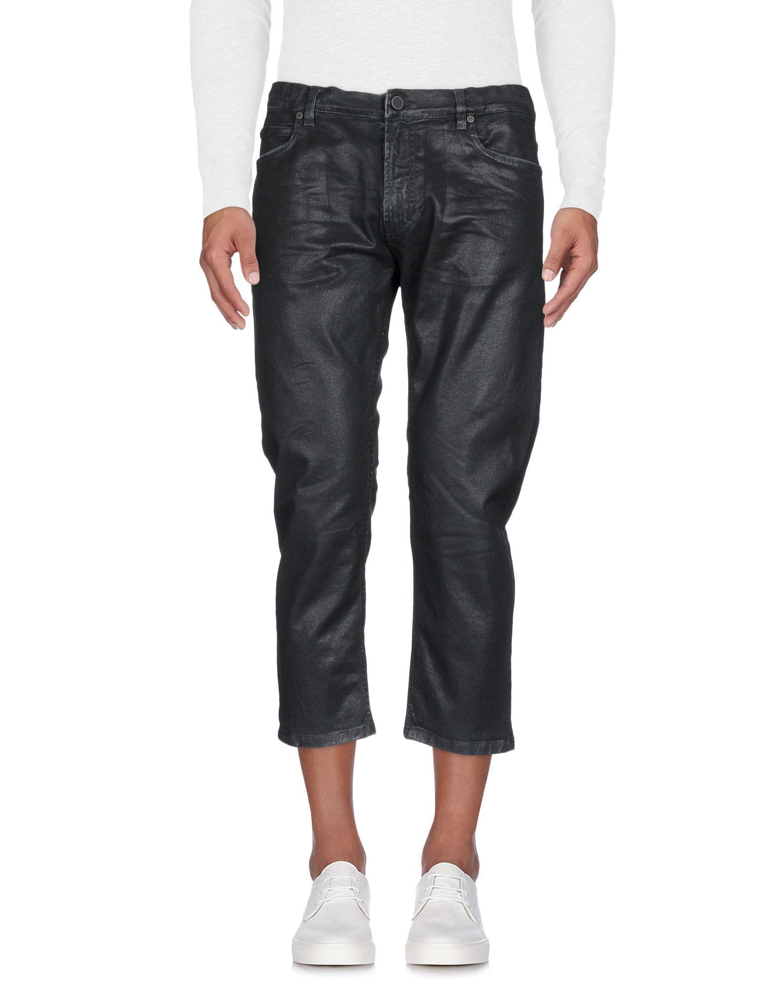 《送料無料》DANILO PAURA メンズ デニムカプリパンツ ブラック 30 コットン 100%