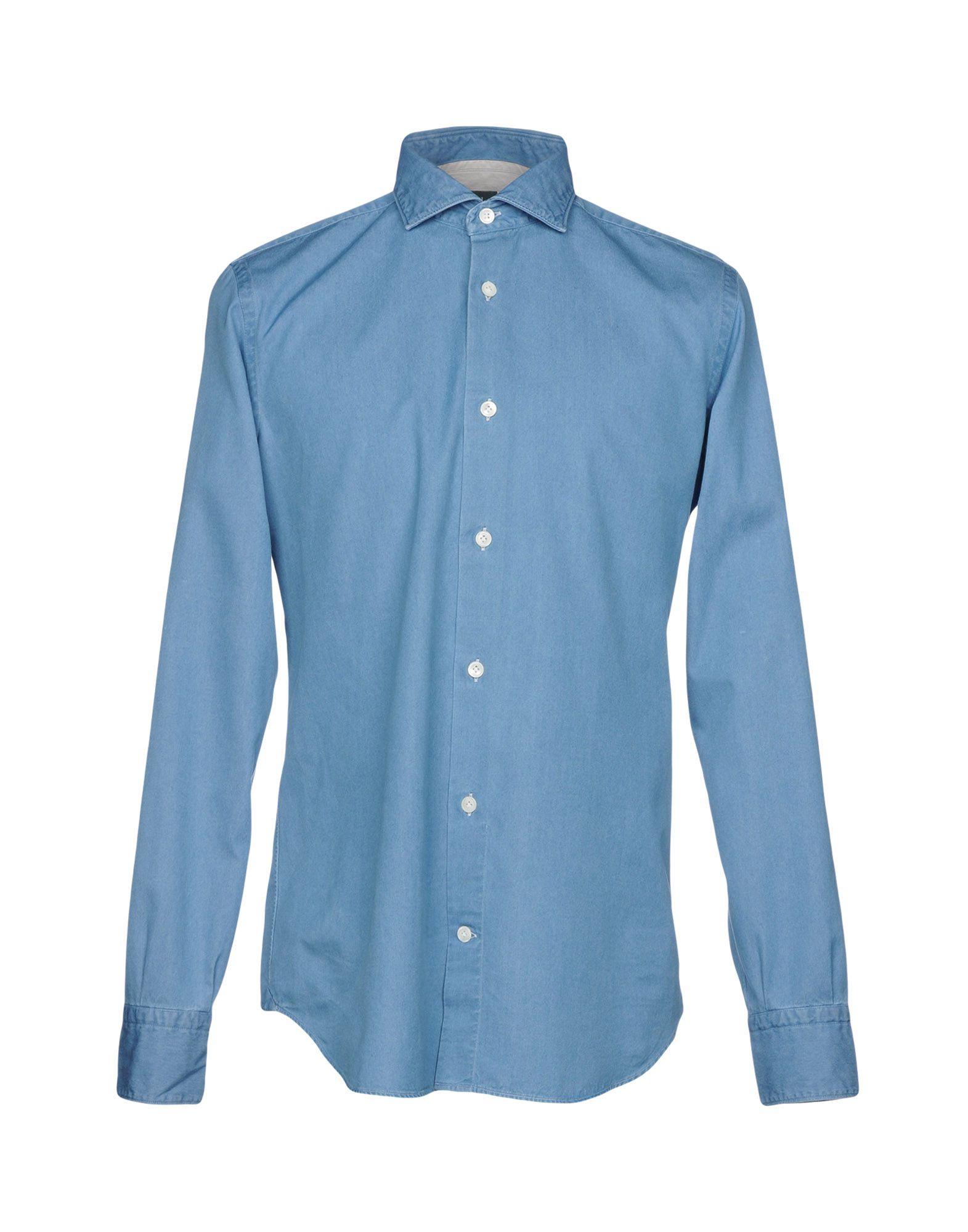 ELEVENTY Джинсовая рубашка цена 2017