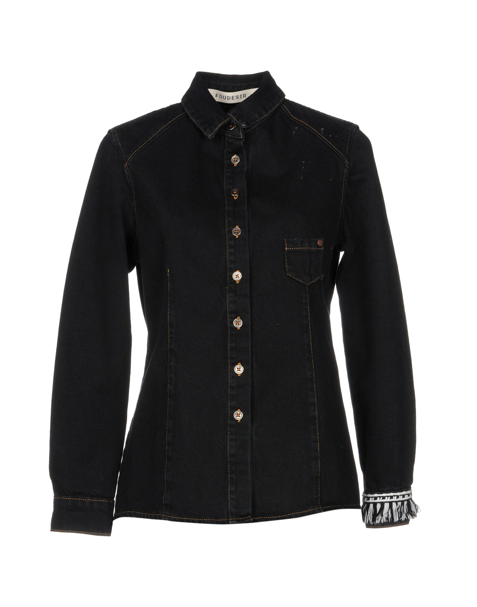 FOUDESIR Джинсовая рубашка foudesir блузка