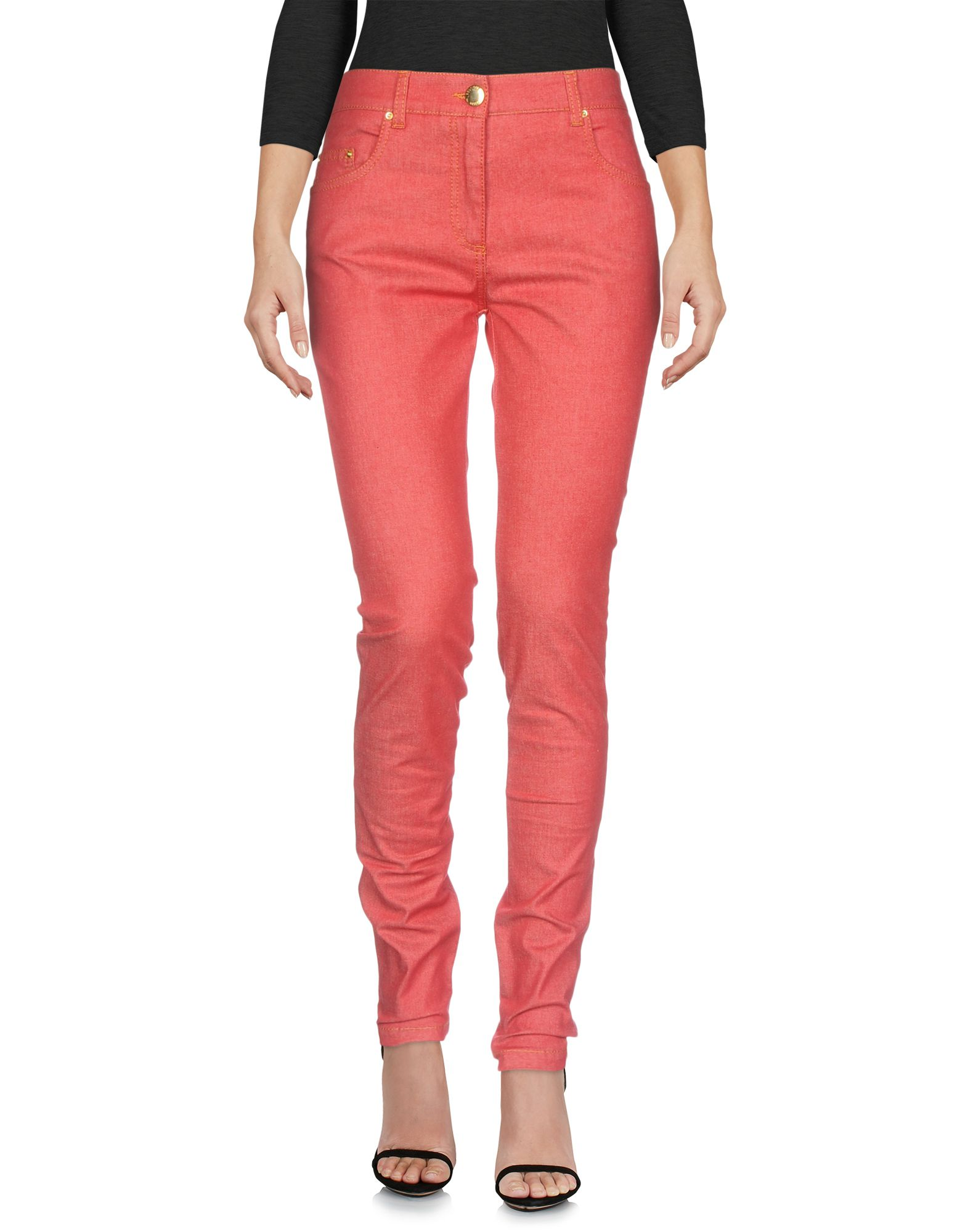 BOUTIQUE MOSCHINO DENIM PANTS, RED