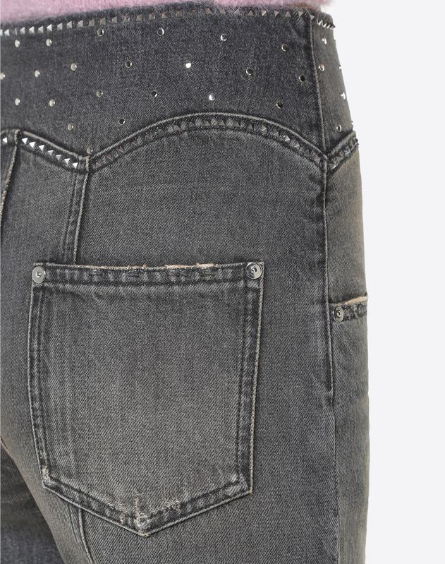 Black Denim con borchie