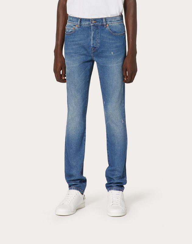 5 Pocket Destroyed Jeans, Skinny fit