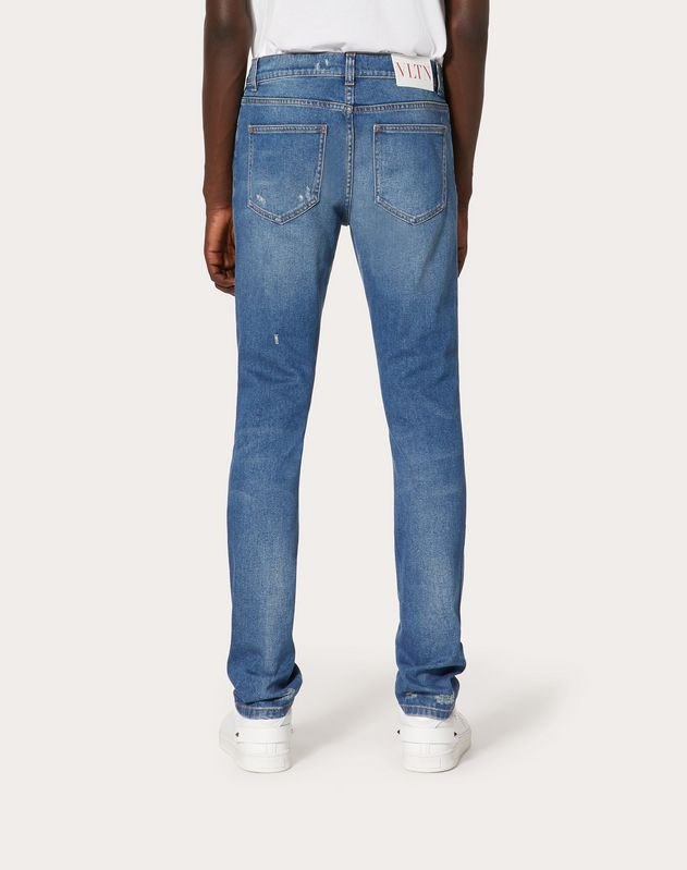 Skinny fit 5-pocket jeans with rips