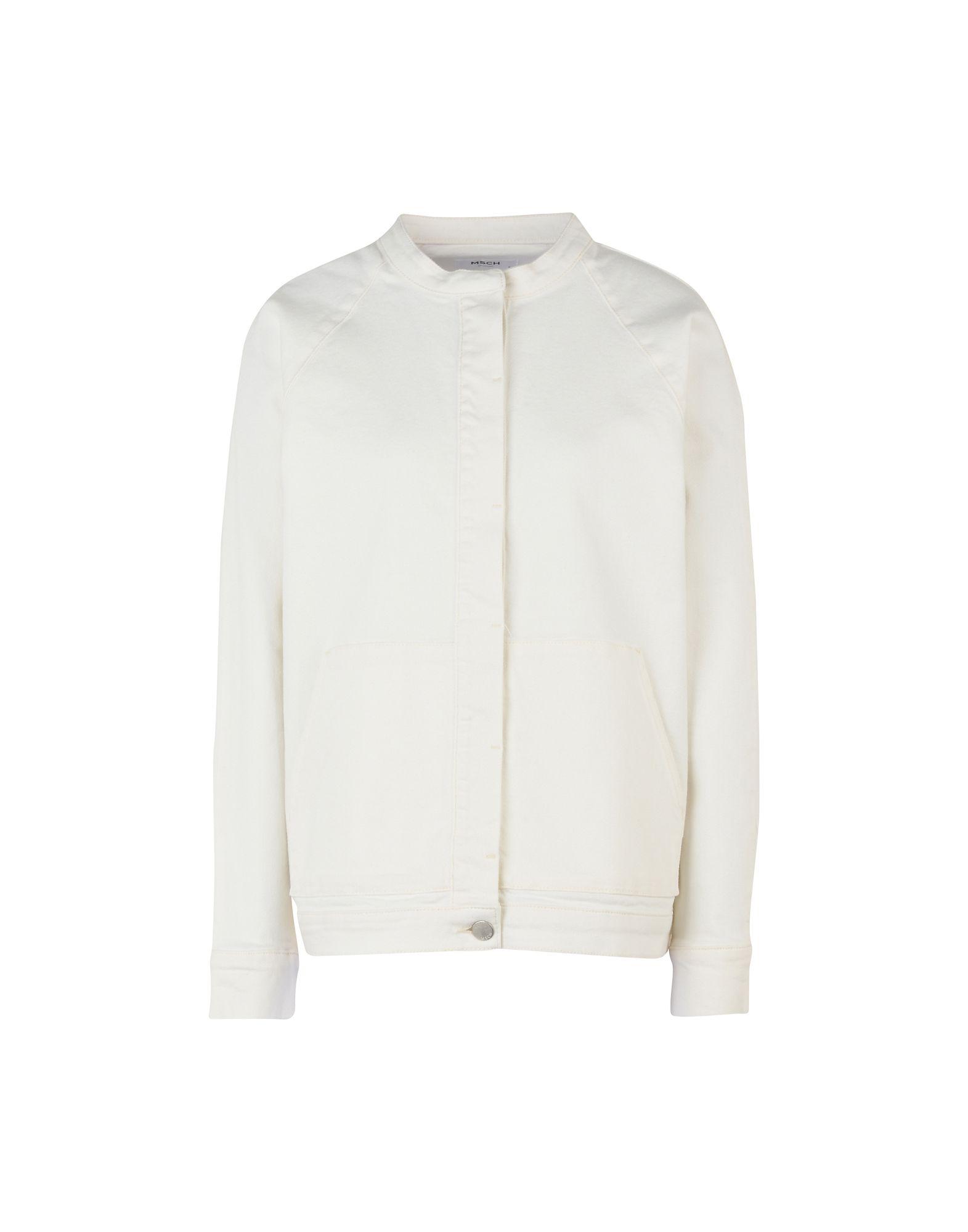 《セール開催中》MOSS COPENHAGEN レディース デニムアウター アイボリー S コットン 97% / ポリウレタン 3% Natila Denim Jacket