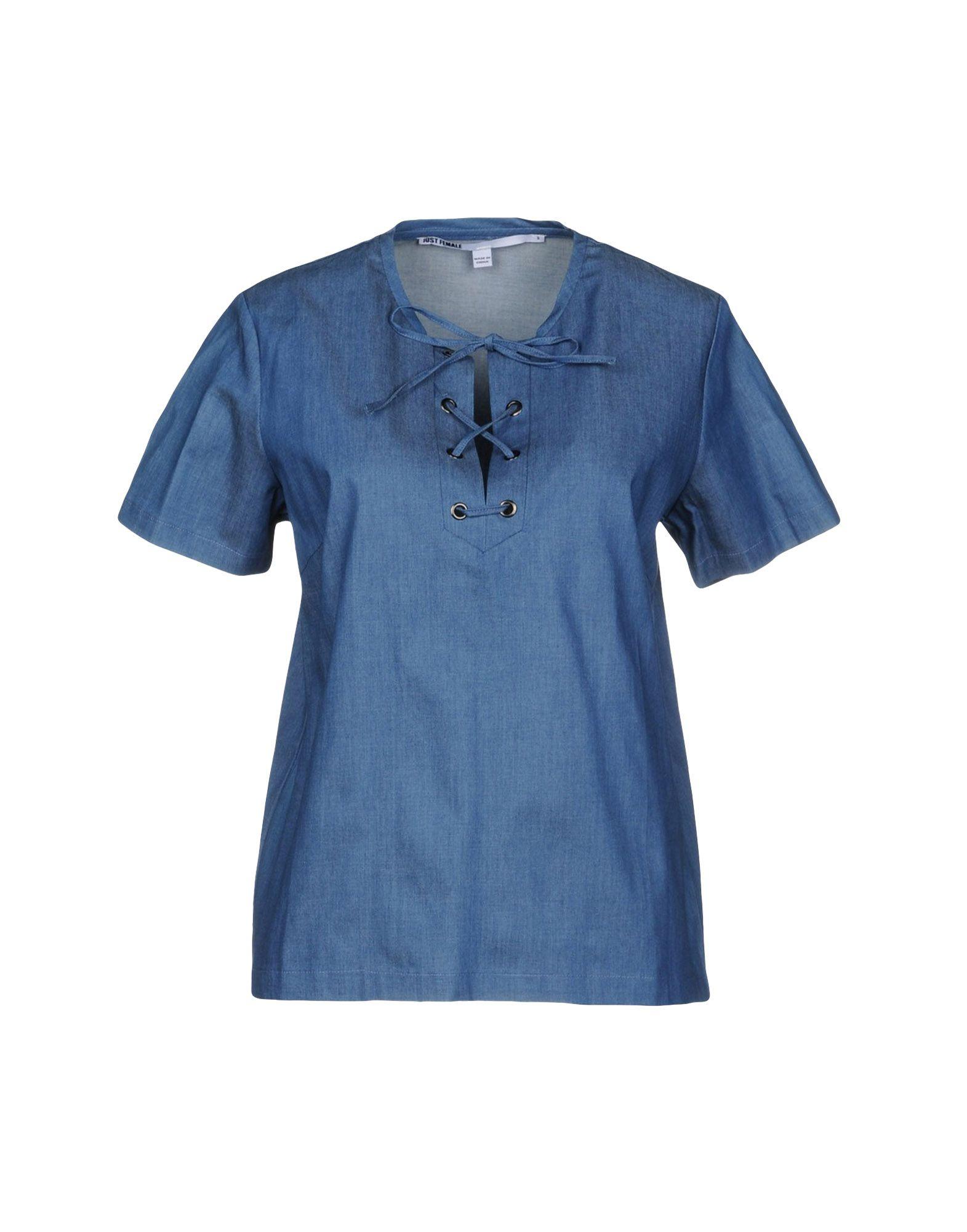 JUST FEMALE Denim Shirt in Blue