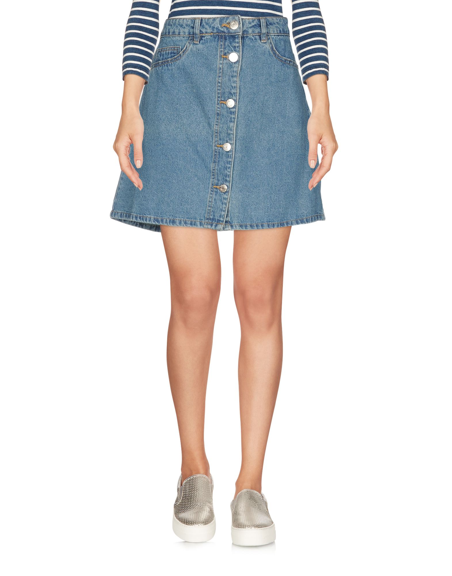 《送料無料》NOISY MAY レディース デニムスカート ブルー XS コットン 100%