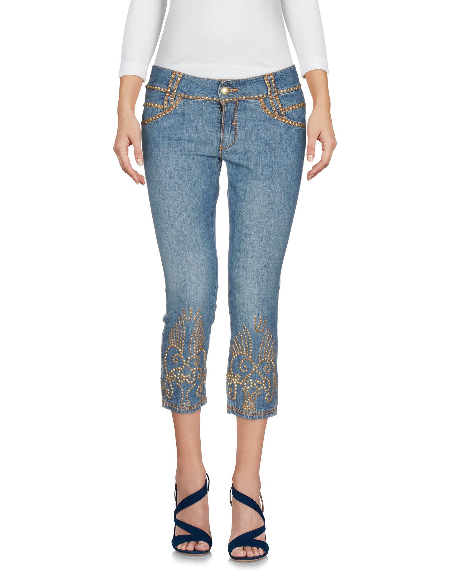 ERMANNO SCERVINO Джинсовые брюки-капри золотые серьги ювелирное изделие e01112202wg