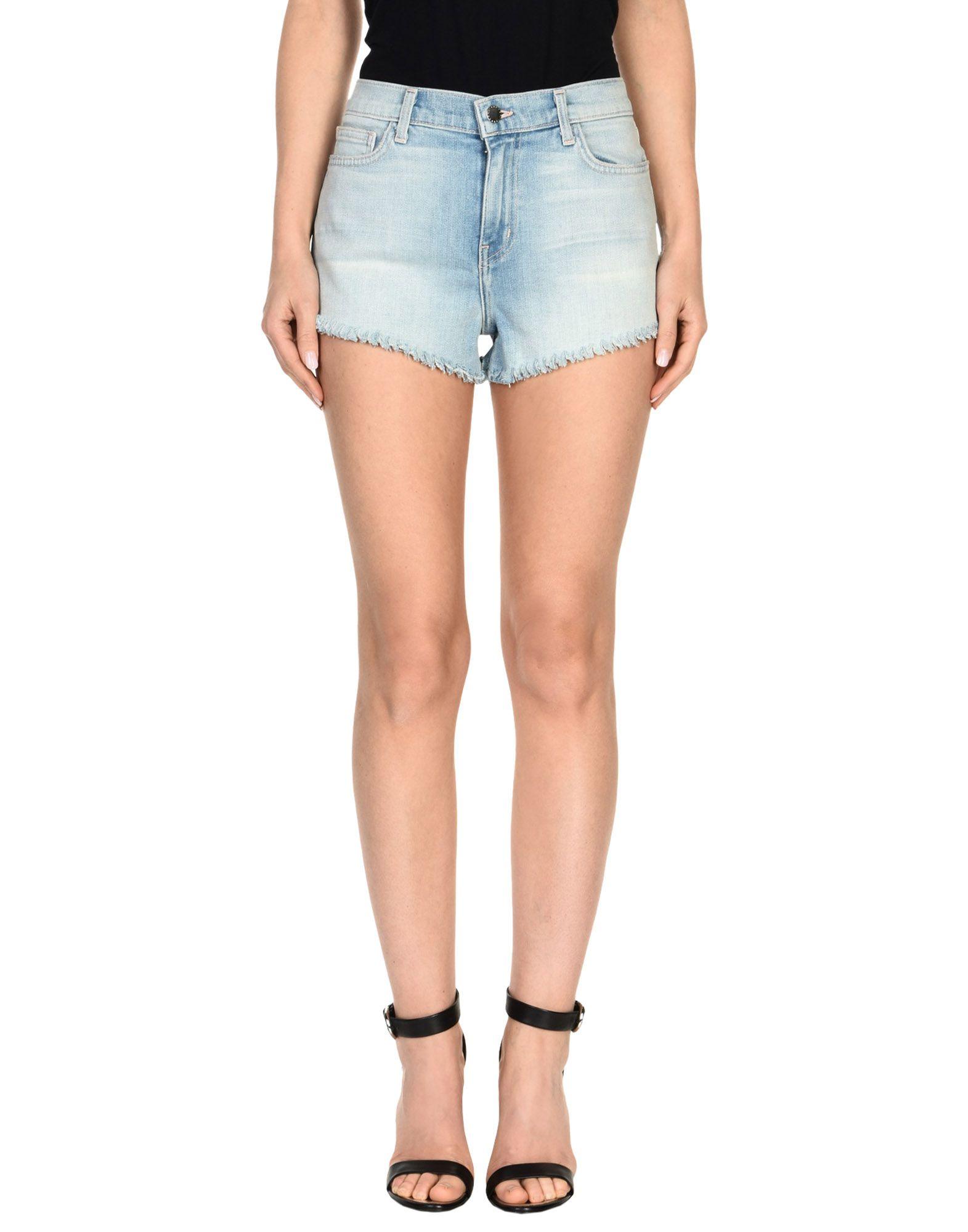 L'AGENCE Джинсовые шорты superfine джинсовые шорты