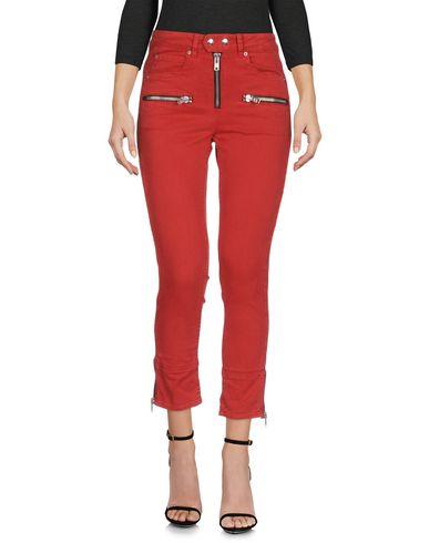 Купить Джинсовые брюки от ISABEL MARANT ÉTOILE красного цвета