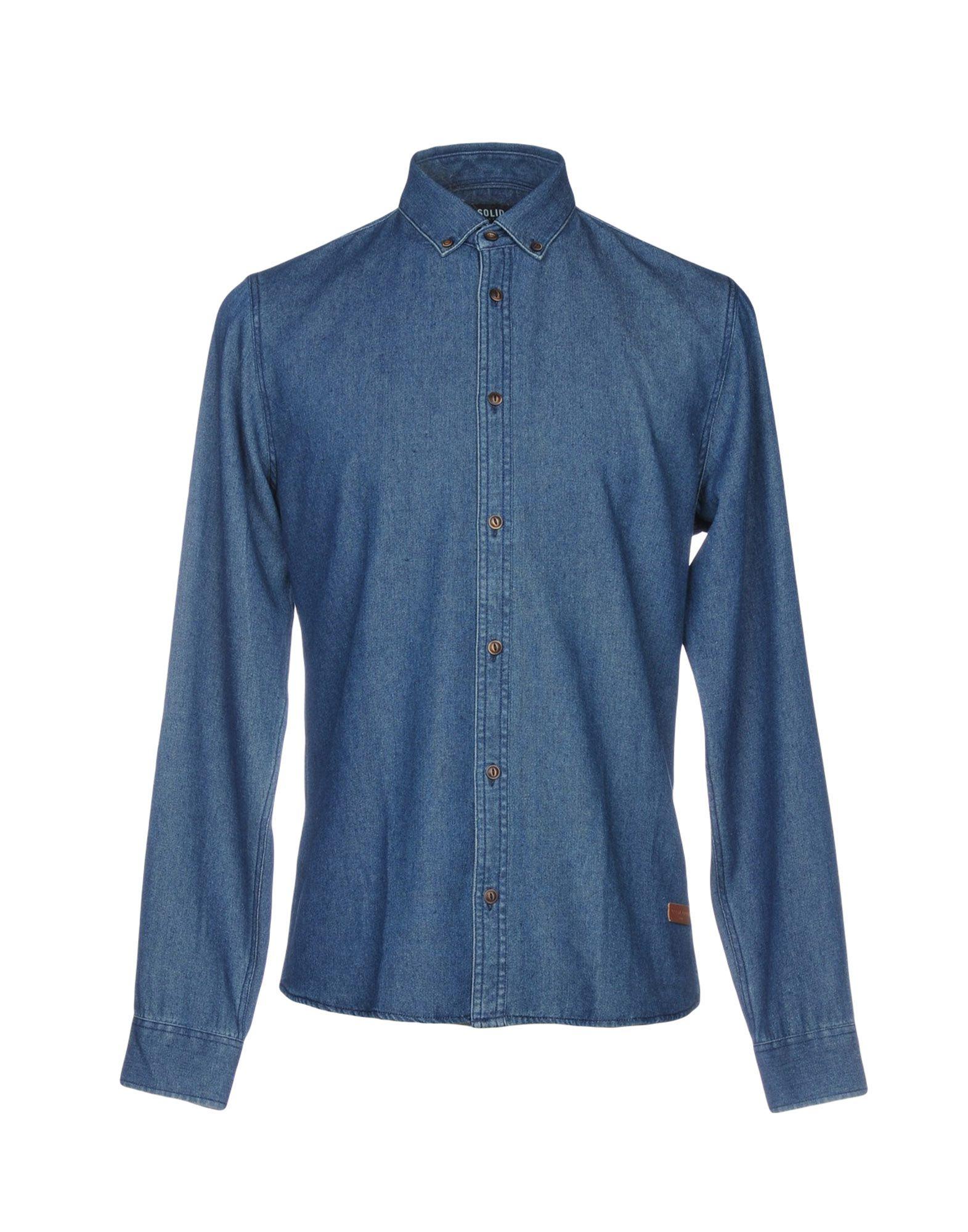 !SOLID Джинсовая рубашка рубашка solid solid so999ematgp9