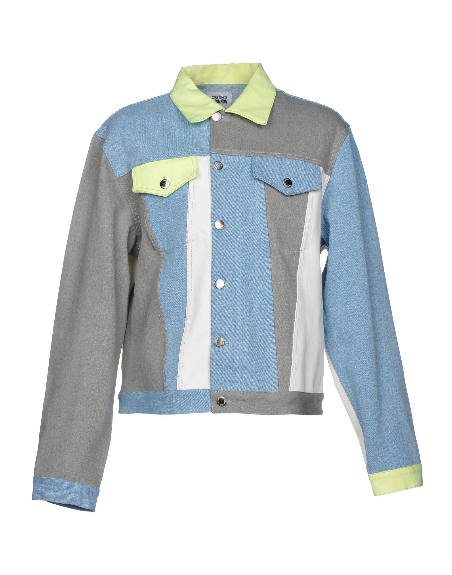 CHRISTOPHER SHANNON Джинсовая верхняя одежда брендовая одежда