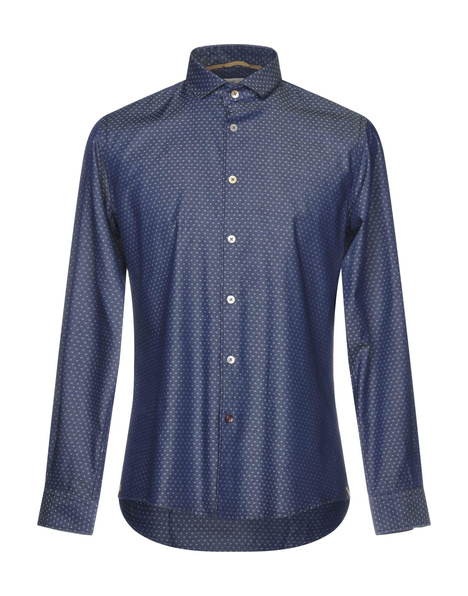 ALLEY DOCKS 963 Джинсовая рубашка рубашка в мелкий горошек